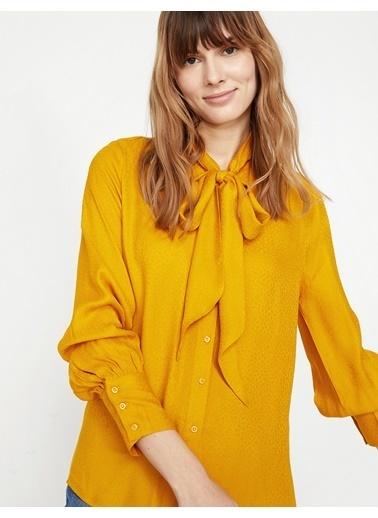 Koton Desenli Bluz Sarı